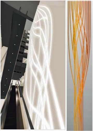 33mの光のアートウォール