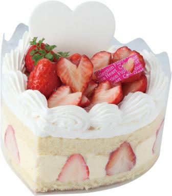 ハートのカスタードケーキ(税込2700円)