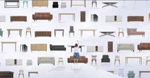 ディノス/家具のTV-CM、オンエア