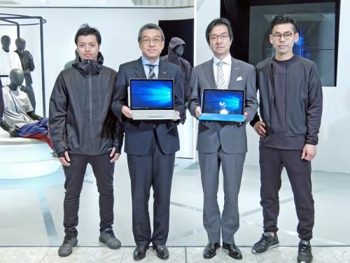 オープニングセレモニー(大西氏・中央左、樋口氏・中央右)