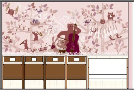 オムツ替えスペースの壁紙イメージ