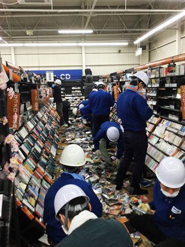 復旧作業 TSUTAYA AVクラブ 御領店(熊本市)