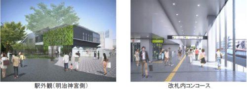 原宿駅の改良イメージ