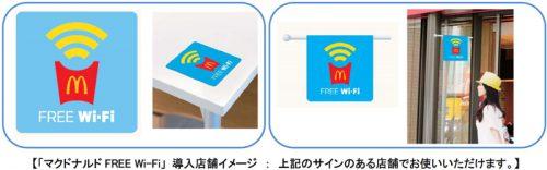 マクドナルド FREE Wi-Fi