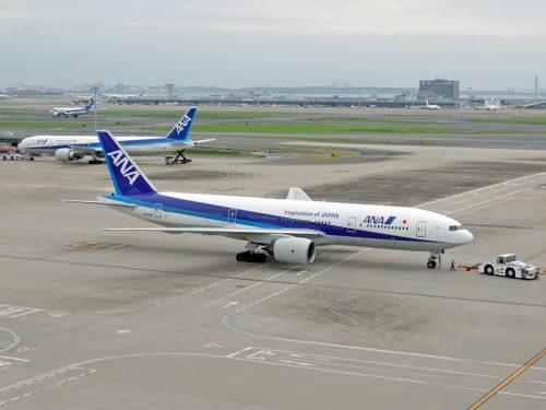 展望デッキから見た羽田空港