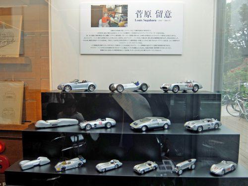 レーシングカーの模型も展示