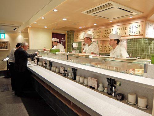 立ち寿司スペース