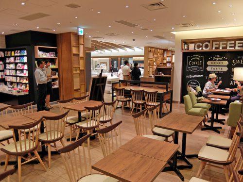 カフェと書店を併設