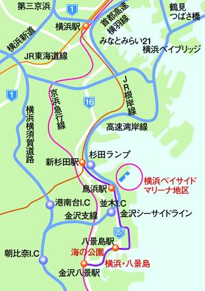 横浜ベイサイドマリーナ地区の位置図