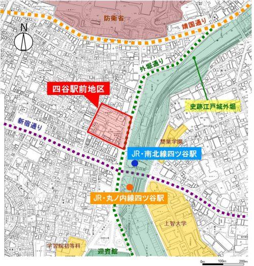 20160906yotsuya 2 500x524 - 四谷駅前再開発/2019年に地上31階の複合施設竣工、商業施設は5800m2