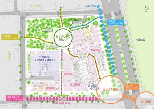 20160906yotsuya 3 500x354 - 四谷駅前再開発/2019年に地上31階の複合施設竣工、商業施設は5800m2