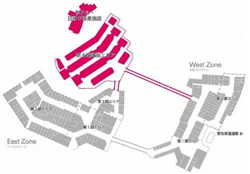 第4期増設エリア・ホテル・日帰り温泉施設 位置図