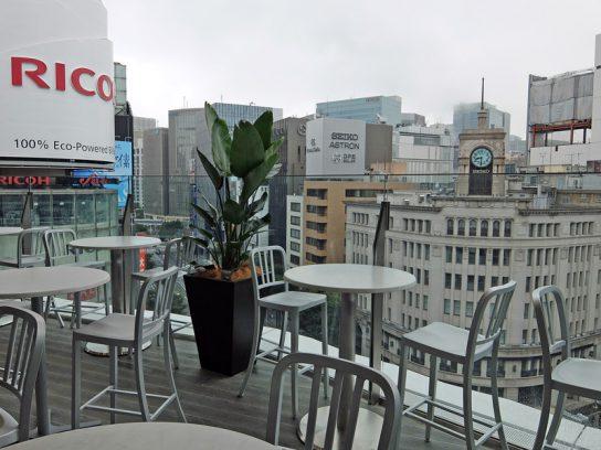 7階テラス席からの眺望