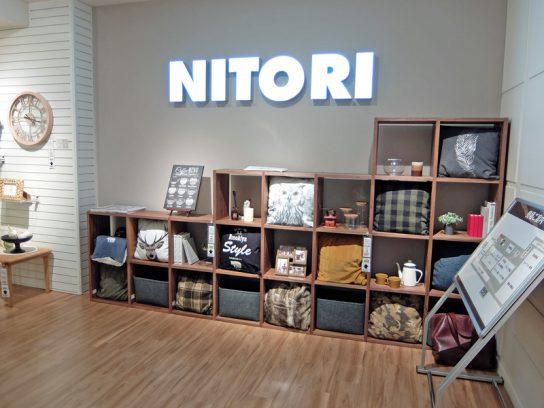 ニトリ上野マルイ店の入口