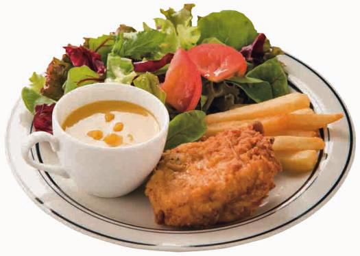 選べるチキンコンビプレート(季節のスープつき):780円(税込)