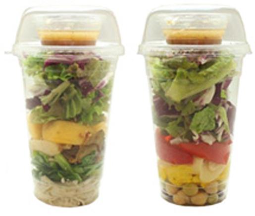カップサラダ「小松菜とキノコ」など:490円