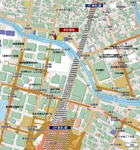 (仮称)三井ガーデンホテル大手町の立地