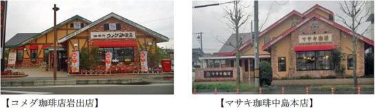 コメダ珈琲店とマサキの外観写真