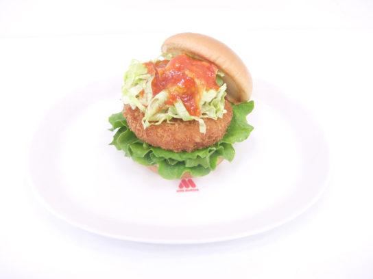 モスバーガー/定番をアレンジ、海老カツバーガーを蟹チリソースで訴求