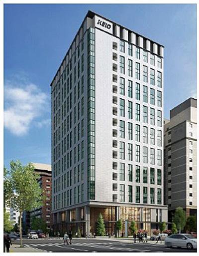 京王プレリアホテル外観イメージ札幌17階建