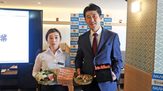 岩井社長(右)