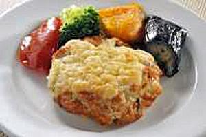 豆腐ハンバーグのチーズ焼き