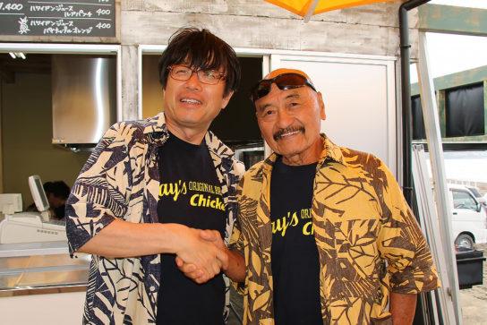 粟田貴也社長とレイ・タントグ氏