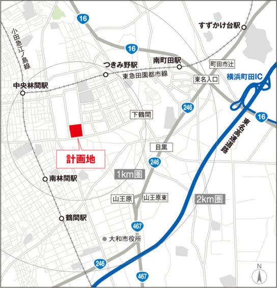 (仮称)ニッセイロジスティクスセンター横浜町田近郊図