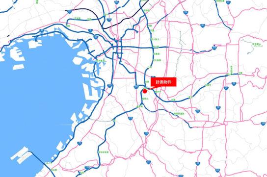 ニッセイロジスティクスセンター大阪松原広域図