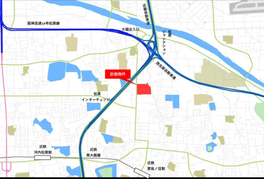 ニッセイロジスティクスセンター大阪松原近郊図