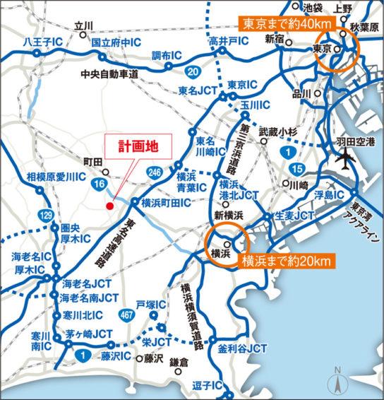 (仮称)ニッセイロジスティクスセンター横浜町田広域図