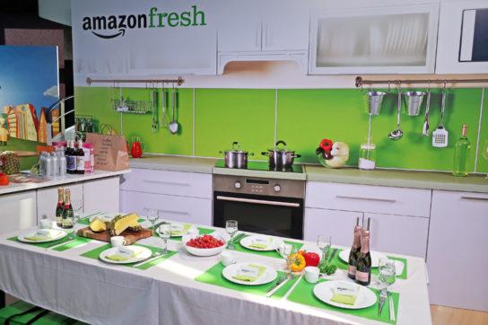 Amazonフレッシュの食品試食コーナー