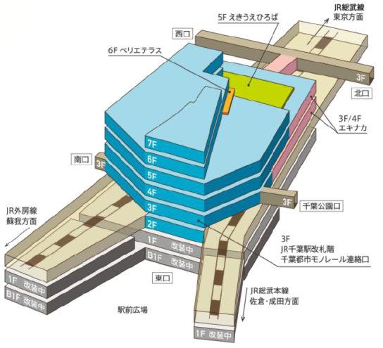 フロア構成※青色部分が新規オープンするエリア