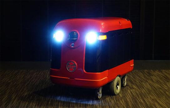 ロボットにはライトも搭載