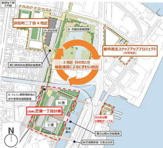 計画配置と周辺地区との連携イメージ