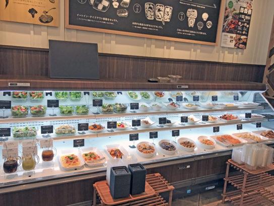惣菜コーナーの全景