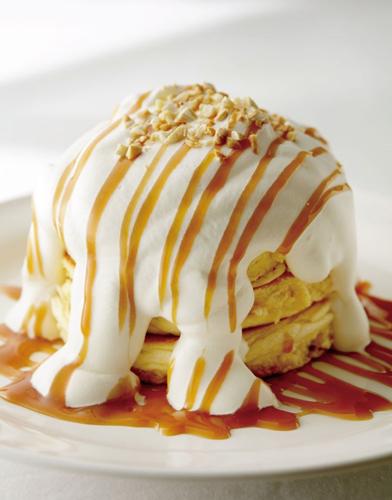 手作りパンケーキ 特製マカダミアナッツクリーム