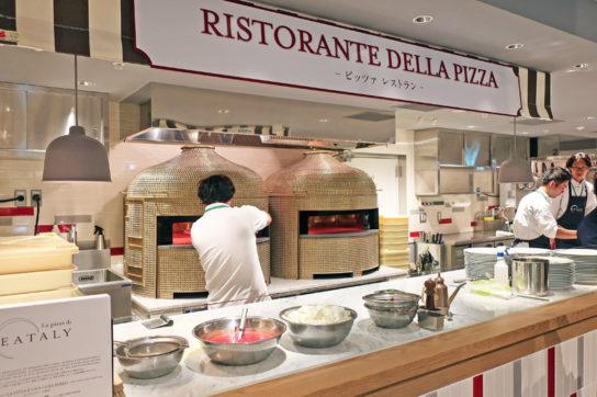 ピザやパスタは店内調理でできたてを提供