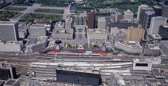 1992年頃 丸の内再構築前の空撮写真