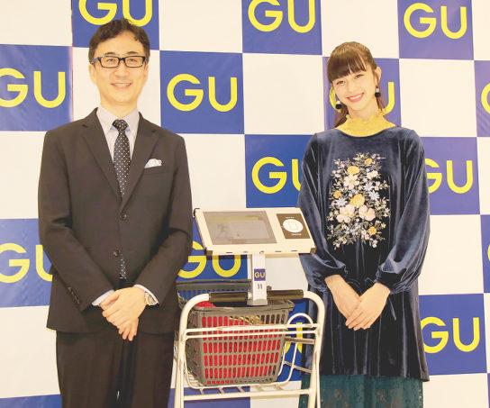 柚木治社長と最新コレクションを着た中条あやみさん