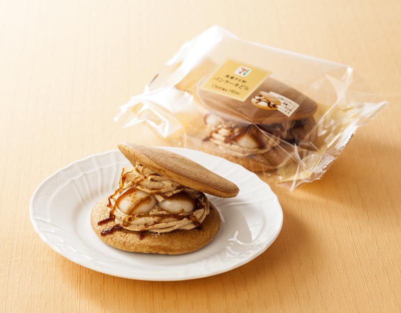 セブン‐イレブン/和洋折衷の洋風どら焼き「黒蜜きな粉パンケーキどら」