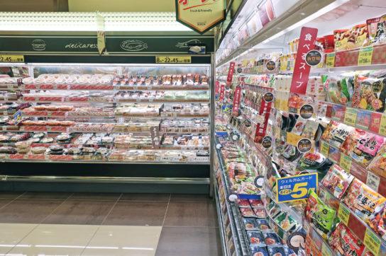 即食商品は部門横断で陳列