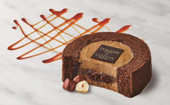 Uchi Cafe SWEETS×GODIVAキャラメルショコラロールケーキ