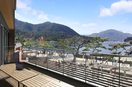 瀬戸内海の景色が見える客席