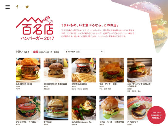 食べログ ハンバーガー百名店