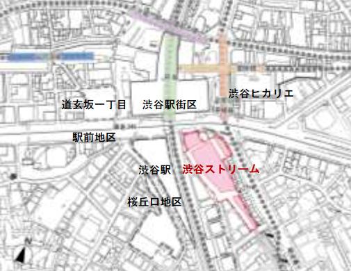 渋谷ストリームの位置