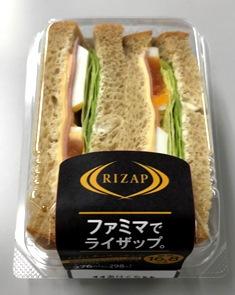 RIZAP ハムとチーズのサンド
