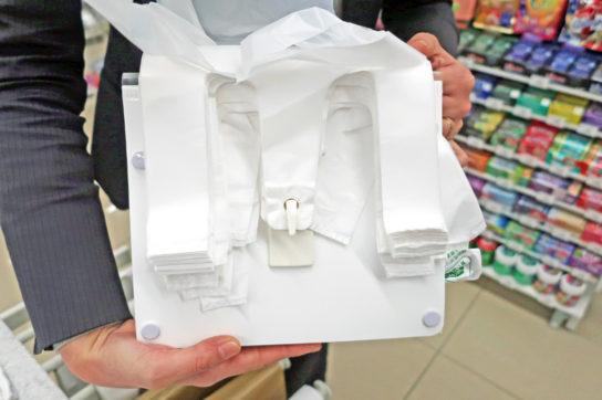 レジ袋開口の仕組み