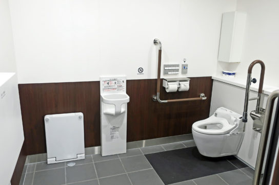 快適空間トイレも開発