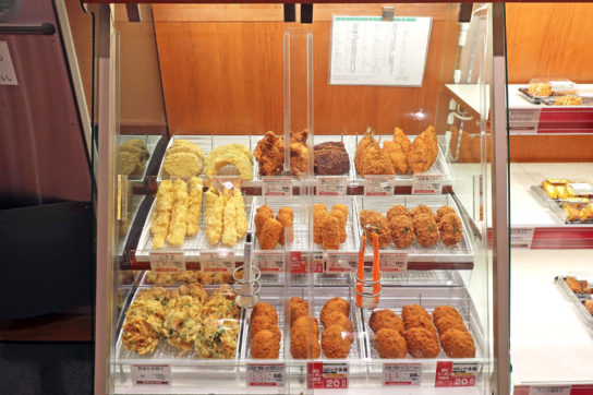 天ぷら・フライは店内加工